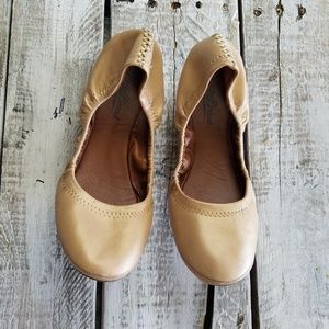 Lucky Brand flats women size 7B beige solid casual